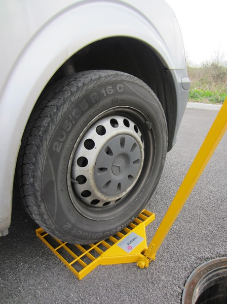 Christie Method - high strength Reaction Plates which can withstand the load of a commercial van wheel