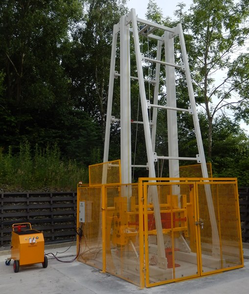 Drop Test Rig installed on-site
