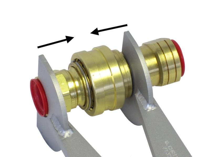 Coupler being connected via winding action of ratchet